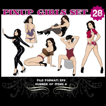 Pinup-Vector-Set-28-Vector-graphics-10903