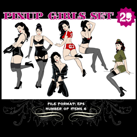 Pinup-Vector-Set-29-Vector-graphics-11415