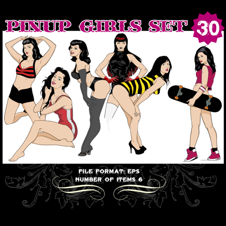 Pinup-Vector-Set-30-Vector-art-12253
