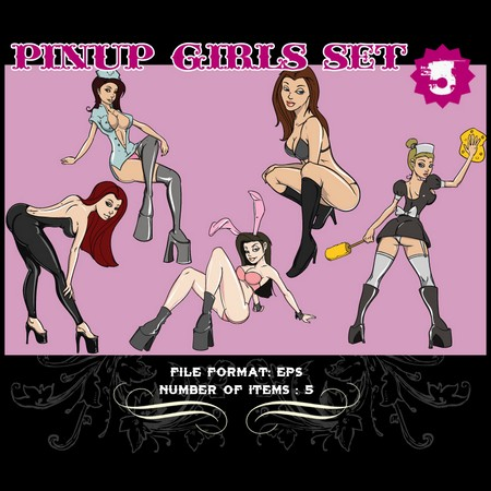 Pinup-Vector-Set-5-Vector-graphics-9793