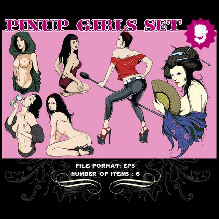 Pinup-Vector-Set-9-Vector-graphics-9801