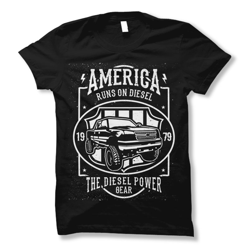Runs-On-Diesel-Tee-shirt-design-22534