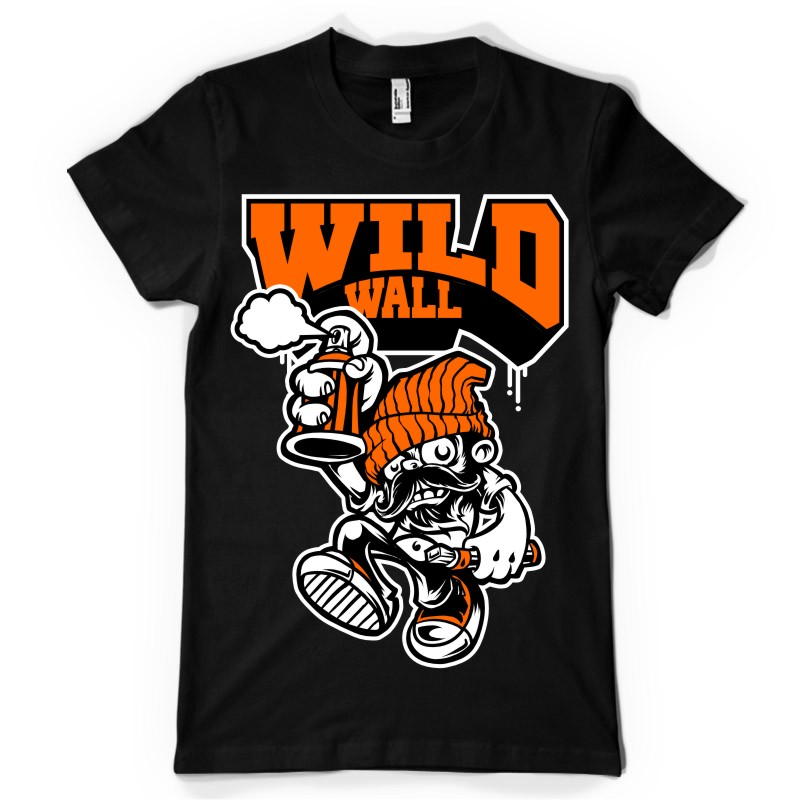 Wild-wall-T-shirt-design-20108