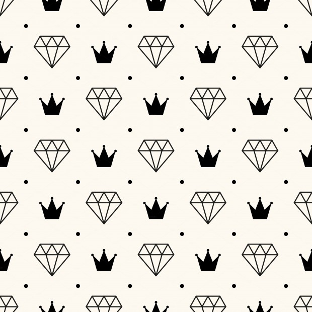 Retro pattern, crown patterns