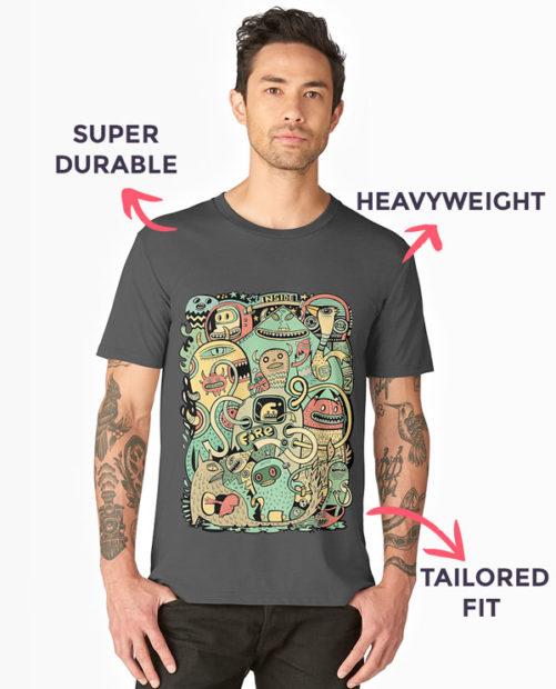 RedBubble Premium t-shirts