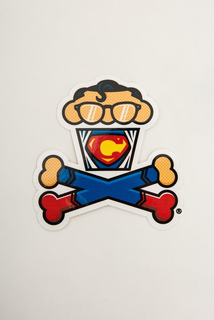 superman cupcake sticker