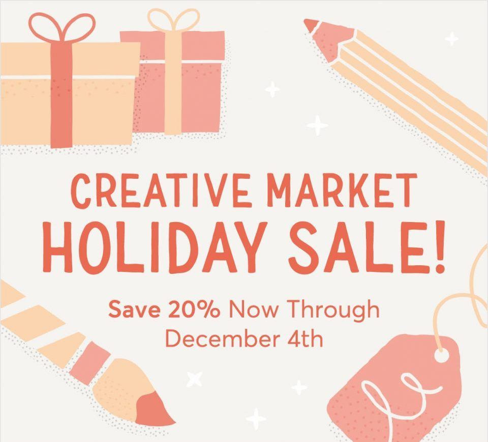Creative Market holiday sale