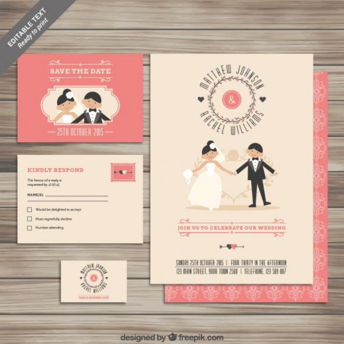 Free wedding invitations templates with instant download